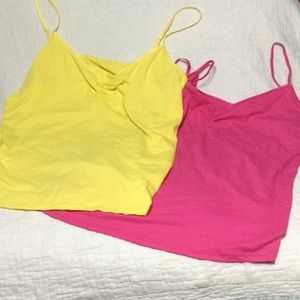 Two camisole tops pink and Yellow size 3X
